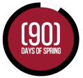 90 days of spring logo
